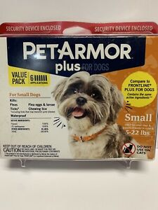 PET ARMOR Plus Small Dogs 5-22 lbs Flea & Tick 6 month treatment