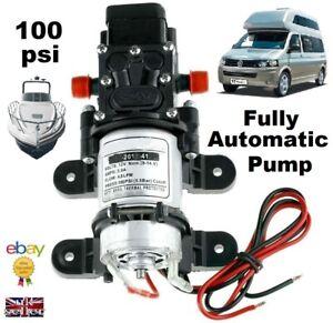 12v BOAT MOTORHOME AUTOMATIC WATER PUMP CARAVAN 100psi SELF BUILD CAMPER 12 VOLT