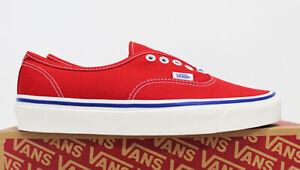 NIB VANS Men's Authentic 44 DX OG Red Blue Anaheim Factory Low Sneakers Shoes