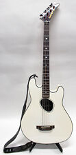 Kramer Ferrington Acoustic Electric Bass Guitar with Gigbag - White