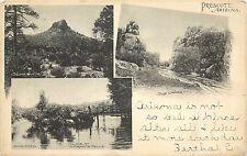 1905 Multi View Lithograph Postcard Prescott AZ Brisley Drug Co. Yavapai County