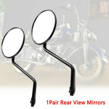 2PCS Universal 10mm Thread Rear View Side Mirrors Adjustable For Motorcycle Bike