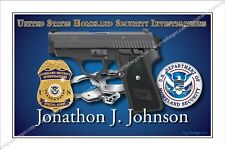 Police,United States,,department of,homeland,security,Retirement,DHS,badge,gift