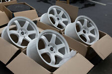 Used 17x9 Rota GRID 5x114.3 +42 White Rims Aggressive Fits Rsx TL S2000