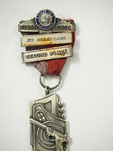 State of Indiana .22 Aggregate Second Place Ribbon Medal 1958