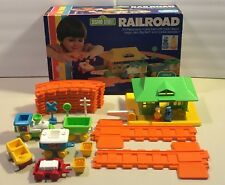Child Guidance Sesame Street Railroad Complete with Box 1983  Cookie Monster