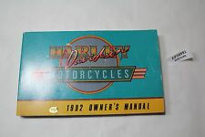 1992 Harley-Davidson Owner's Manual 99466-92 FXR Softail FL Dyna XL EPS20995