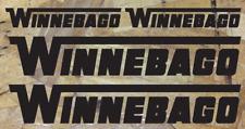 "Winnebago Camper RV Vinyl Decal High Resolution Graphics Stickers 4pc - 36"", 18"""