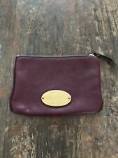 Mulberry Purple Leather Clutch Bag