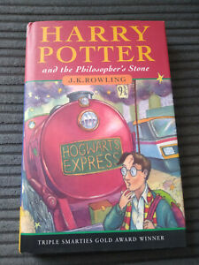 HARRY POTTER AND THE PHILOSOPHERS STONE 1ST/23RD VG HB DJ BLOOMSBURY DECENT COPY