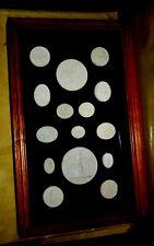 More details for collection framed seals medieval roman seals 15 assorted rare set wooden case