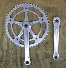 Campagnolo Pista 165mm Vintage Crankset with 50T track ring and Dust Caps
