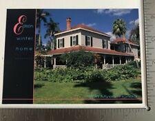Vintage Postcard Thomas Edison's Winter Home Fort Meyers Florida