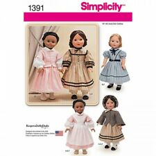 Simplicity Civil War Doll Clothes Sewing Pattern 1391