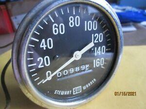 1960s Stewart-Warner 160MPH Mechanical Speedometer,  Shelby Cobra