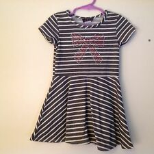 Tween Scene Little Girls Dress size 3T pink sequined bow gently used