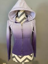Juniors Aeropostale Purple Hooded Zip Up Size X Small
