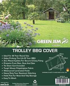 TROLLEY BBQ COVER - TARPAULIN - HEAVY DUTY - WATERPROOF LAMINATED FINISH