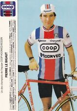 CYCLISME carte cycliste PIERRE LE BIGAUT équipe COOP HONVED ROSSIN 1984