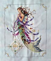 "New Finished completed cross stitch Needlepoint""MERMAID""home decor sale"
