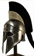 Greek Corinthian Helmet with crest reenactment armour europe spartan helmets