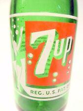 """vintage ACL Soda Pop Bottle: """"BUBBLE GIRL"""" 7-UP of DES MOINES, IOWA - 7  oz"""