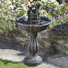 Tipping Pail Solar Water Feature Garden Fountain Waterfall Centrepiece Cascade