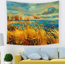 3D Wheat River A77 Tapestry Hanging Cloth Hang Wallpaper Mural Photo Zoe