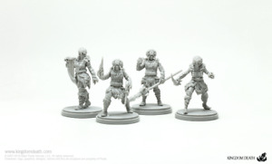 4 x WHITE LION ARMOR KIT - KINGDOM DEATH MONSTER miniature rpg jdr