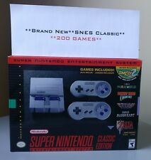 SNES Classic Edition Super Nintendo Mini +200 Games (TOP GAMES)