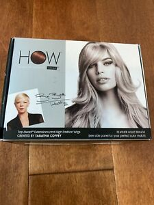 """LUXHAIR HOW TABATHA COFFEY """"Clip In on Bangs"""" FEATHER LIGHT FRINGE BLACK"""
