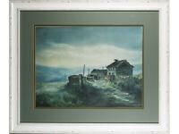 Ashley Jackson Framed Print 'Upper Knowles Farm' Artist Signed. Yorkshire Art