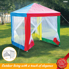 Childrens Gazebo Multicoloured Sun Shade Marquee Tent Walls Insect Mosquito Net