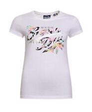 Neues Damen Superdry Stacker Infill T-Shirt Weiß