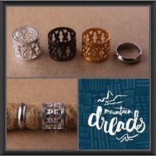 30 9mm Hole (3/8 Inch)  Black/Silver/Gold Filigree Dreadlock Beads Dread Cuffs