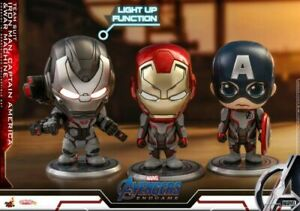 Hot Toy Iron Man Collectible Captain America War Machine Cosbaby Mini Figure Set