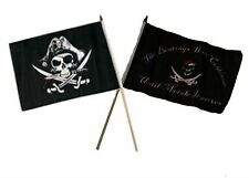 "12x18 12""x18"" Wholesale Combo Pirate Deadman's & Beatings Morale Stick Flag"