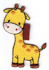 BABY GIRAFFE - CHILDREN - ANIMALS - BABIES - Iron On Embroidered Patch