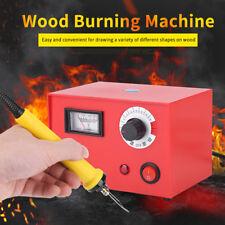 220V Pyrography Machine Wood Burning Pen Set Gourd Wood Craft Tool 50W EU Plug