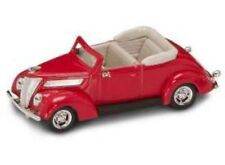 Ford V 8 Convertible 1937 Red 1:43 Model LUCKY DIE CAST