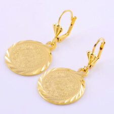 Free Ship 14k Yellow Gold Filled  Clip-on Coin shape Earrings Engagement Jewelry