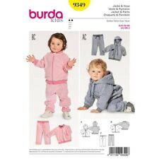 BURDA 9349 SEWING PATTERN CHILDREN BABY SUIT JOGGING HOME 68-98 JACKET TROUSERS