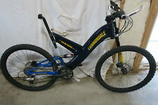 """Cannondale Super V Raven 900 SX with Lefty Size Medium 18"""" Blue/Yellow"""