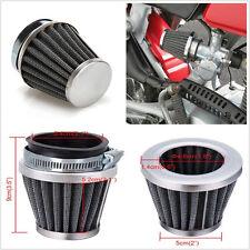A Pair 54mm Black Metal Mushroom Head Tapered Motorbike Air Filters Cleaning Kit
