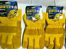 3 Pairs Tillman 1578 Cowhide Split Insulated Winter Work Gloves Large