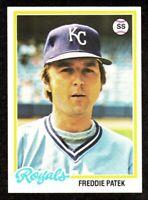 1978 Topps #274 Freddie Patek Kansas City Royals Baseball Card NM