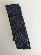 NEW $165 Crunchy silk knit tie by Drake's & Hermes maker Germany Tricot de soie