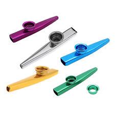 S6 Kazoo Aleacion de Aluminio de Metal con 5pcs Regalos de Flauta Diafragma para