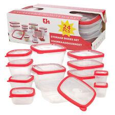 24 sin BPA Plástico Comida Caja almacenaje contenedores & Tapas Juego Microondas