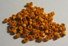 200 x Orange Wooden Cylinder Seed Beads approx. 3mm wide, 1mm hole (B181)